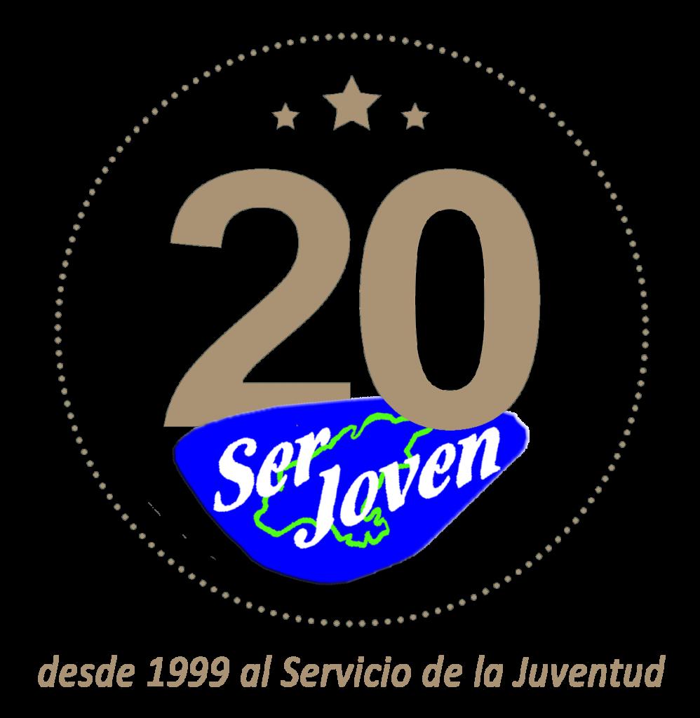Logo del 20 aniversario de Ser Joven