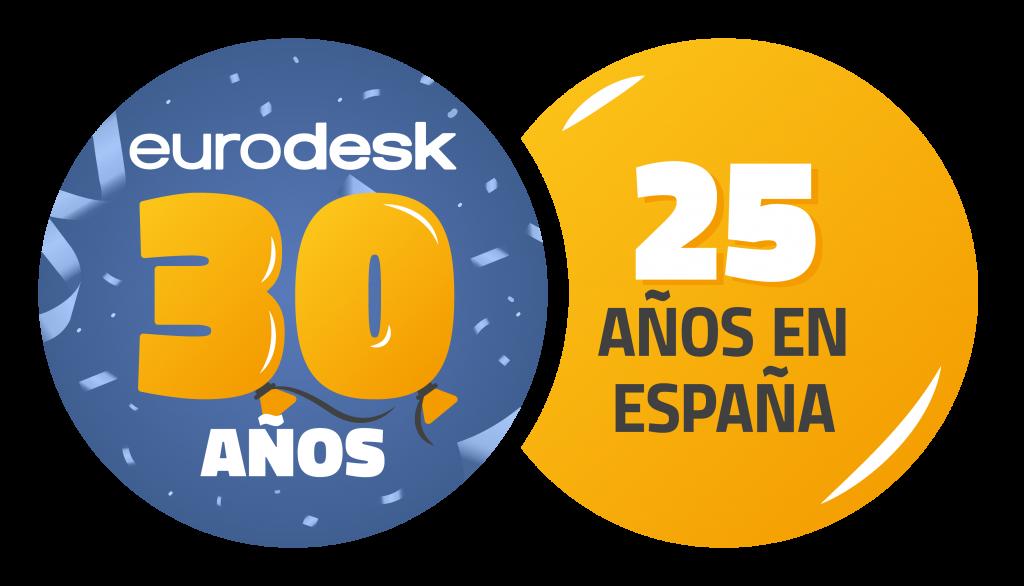 Logo red eurodesk 30 años y 25 años en España