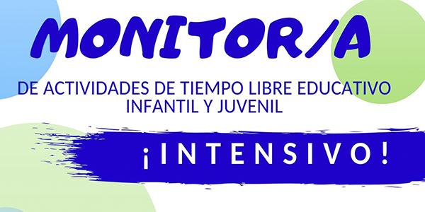 Cartel del Curso de Monitor de Tiempo Libre Intensivo en Verano 2020